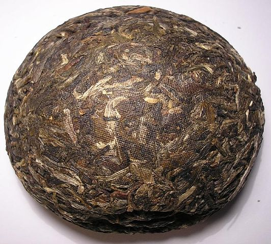 brick of pu erh tea