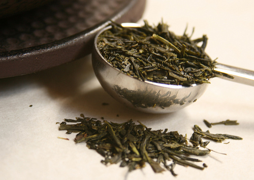 sencha tea leaves